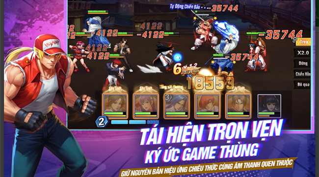 Nếu đã từng chơi Quyền Vương 98 thì bạn không thể bỏ qua KOF AllStar VNG – Quyền Vương Chiến