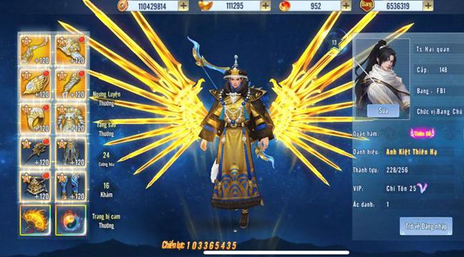 Ts Hai quan trở thành game thủ Tình Kiếm 3D đầu tiên đạt 100 triệu lực chiến