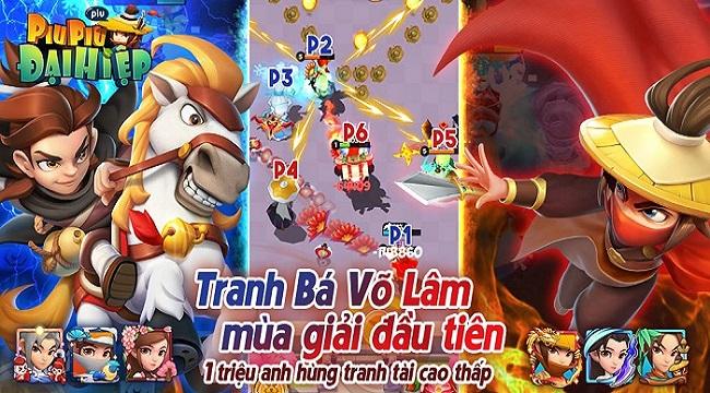 Đại Hiệp Piu Piu Piu tung update siêu chất với giải đấu Võ Lâm Tranh Bá toàn server