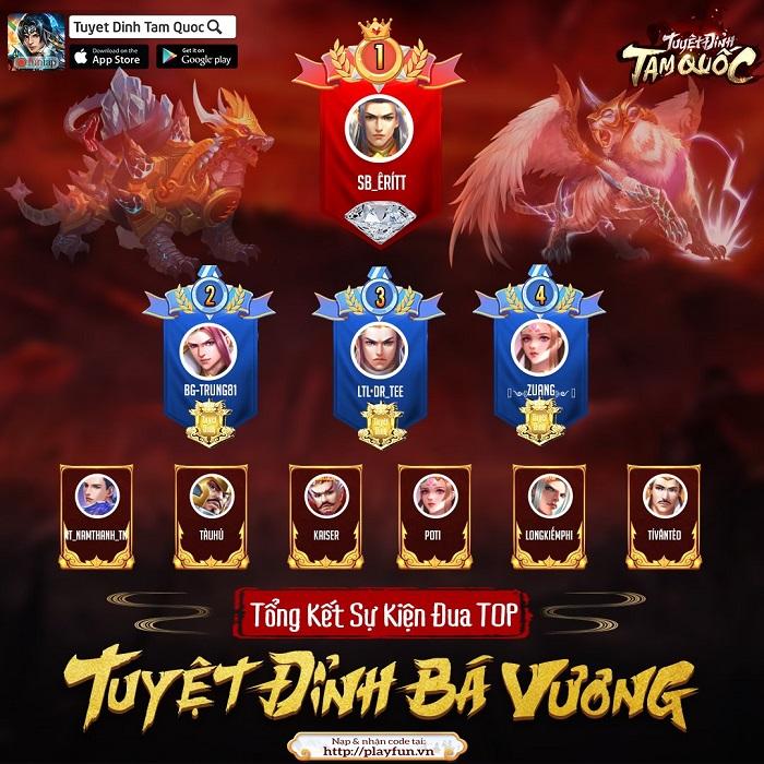 Tuyệt Đỉnh Tam Quốc tổ chức siêu giải đấu 3v3 đầu tiên cho thể loại thẻ tướng 1