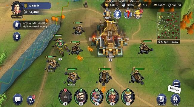 Game cờ chiến thuật Nhất Thống Tam Quốc mở cửa thử nghiệm