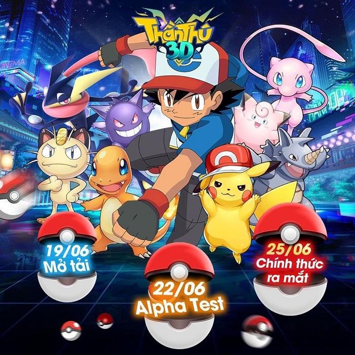 Game đấu pet chuẩn pokemon Thần Thú 3D Mobile công bố lộ trình ra mắt 1