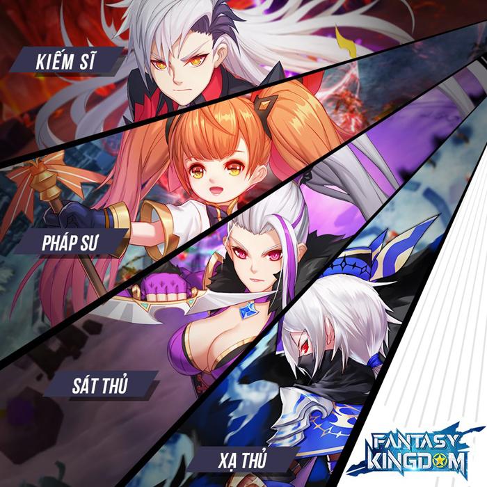 Fantasy KingDom M đưa ra 4 lớp nhân vật với mỗi người một kiểu biến hình khác biệt 2