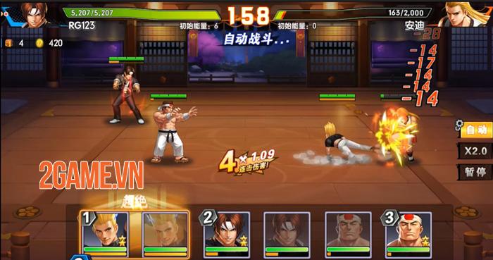 Tự do phát triển đội hình đấu sĩ mạnh nhất của bạn trong KOF AllStar VNG - Quyền Vương Chiến 5