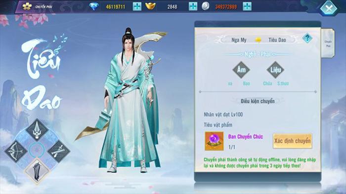 Ngạo Kiếm 3D mở thêm phái mới Tiêu Dao kèm luôn tính năng chuyển phái 1