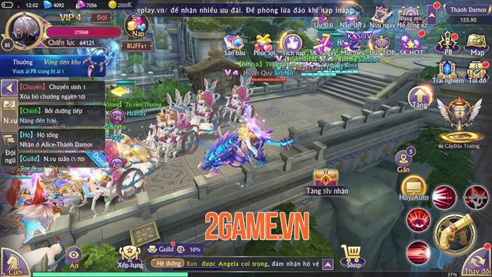 Tặng quá nhiều Kim Cương và free VIP nên lượng người đổ về Fantasy KingDom M rất đông! 4