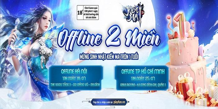 Kiếm Ma 3D ghi điểm trong mắt game thủ sau offline thành công tại Hà Nội 0