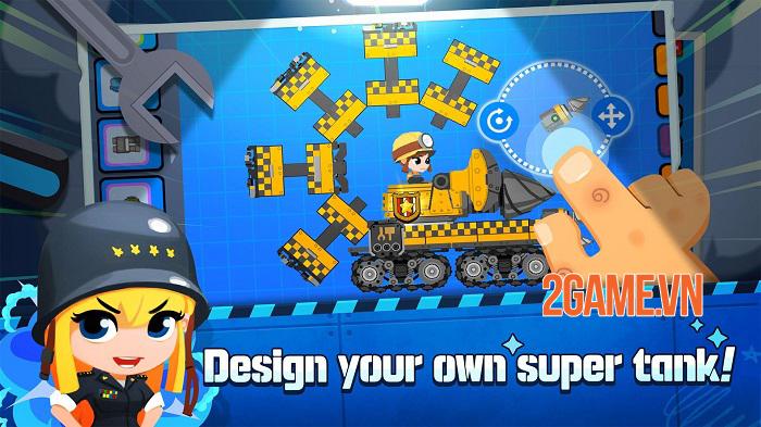 Super Tank Blitz - Game hành động cho phép tự thiết kế xe tăng 2
