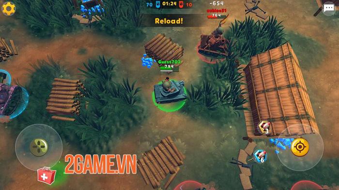 Zoo War: Tanked Guns - Chiến tank phong cách MOBA đơn giản mà thú vị 2