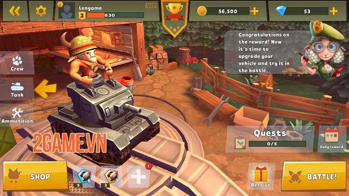 Zoo War: Tanked Guns - Chiến tank phong cách MOBA đơn giản mà thú vị 0
