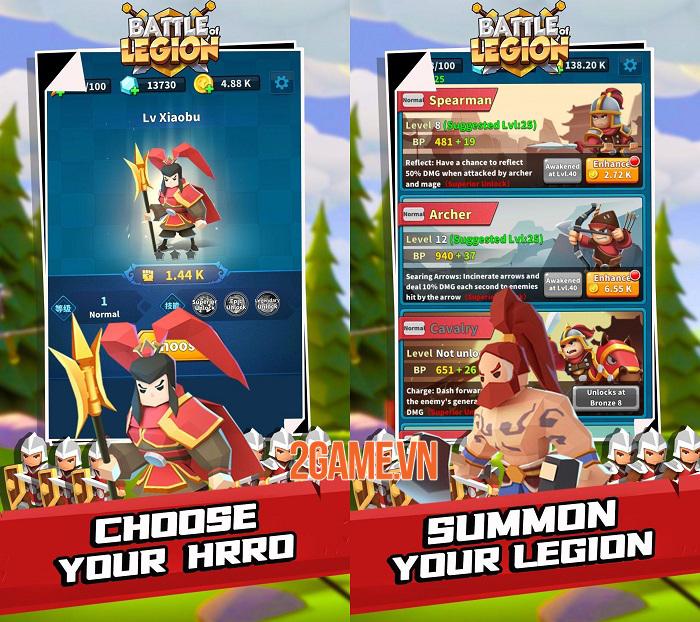 Battle of legion có lối chơi đơn giản, độc đáo và vô cùng thú vị 0
