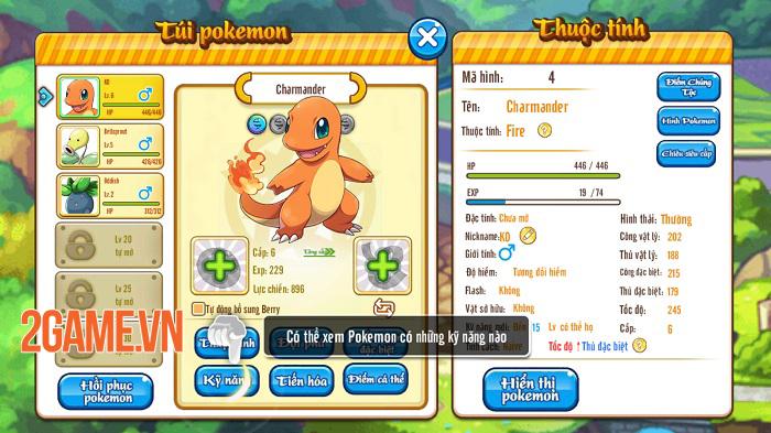 Poke M nổi bật chất cổ điển trong đồ họa, chuyên sâu về hệ thống Pokemon 7