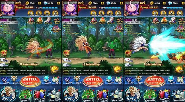 Dragon Ball Idle – Game nhàn rỗi với hệ thống nhân vật mô phỏng nguyên mẫu anime
