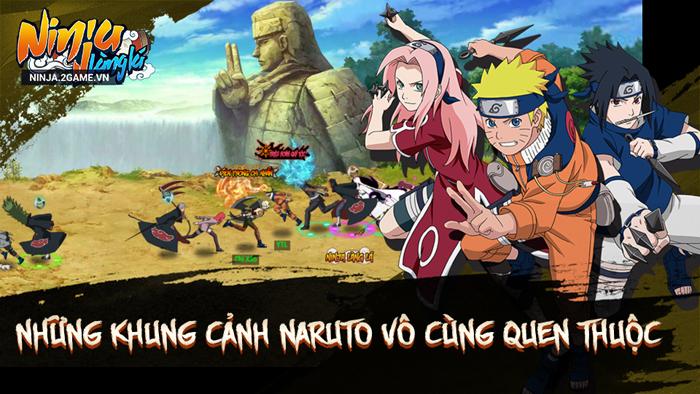 Ninja Làng Lá Mobile mang đến những khung cảnh Naruto vô cùng quen thuộc 1