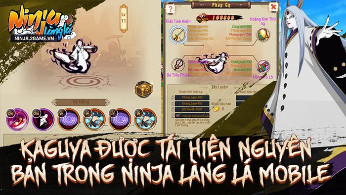 Ninja Làng Lá Mobile: Cận cảnh sức mạnh của tổ mẫu giới nhẫn giả Kaguya 3
