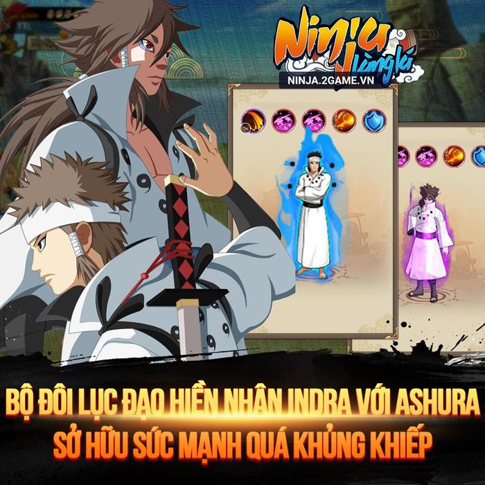 Ninja Làng Lá Mobile tái hiện sức mạnh bộ đôi lục đạo Indra và Ashura 0