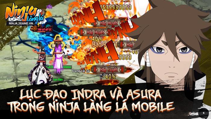 Ninja Làng Lá Mobile tái hiện sức mạnh bộ đôi lục đạo Indra và Ashura 1