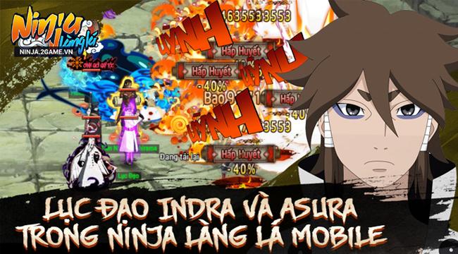 Ninja Làng Lá Mobile tái hiện sức mạnh bộ đôi lục đạo Indra và Ashura