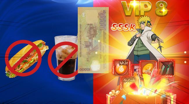 Ninja Làng Lá Mobile tặng VIP 8, Tướng đỏ ngay khi vào game