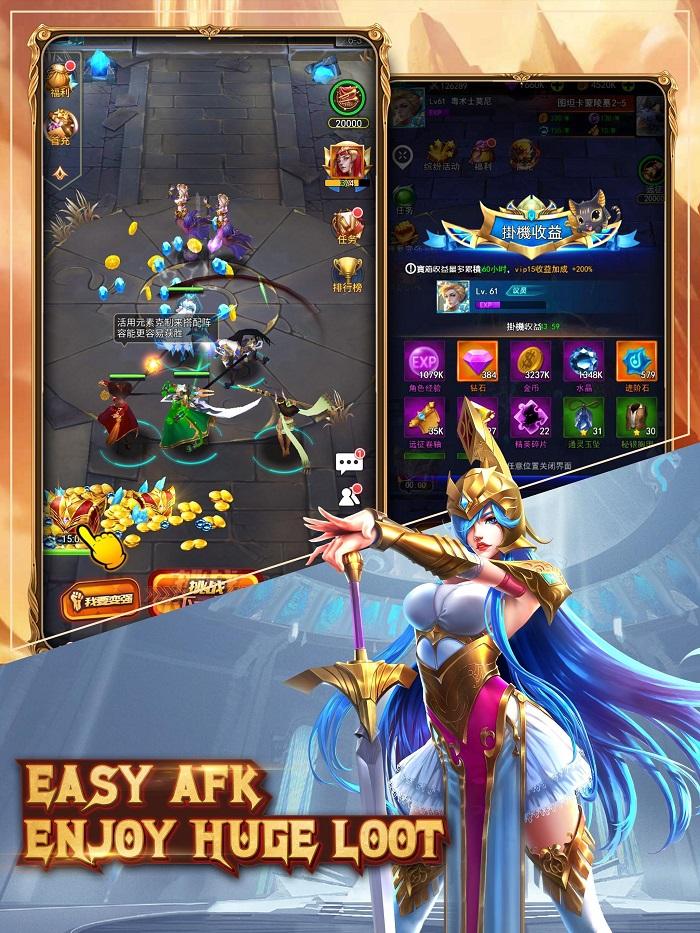 Idle Mythos - Game nhập vai nhàn rỗi phong cách huyền thoại có yếu tố chiến thuật 2