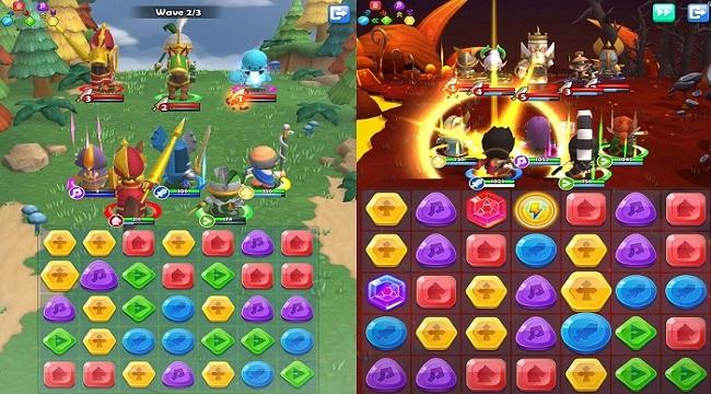 Match 3 Warriors – Sự pha trộn giữa puzzle với nhập vai thẻ bài