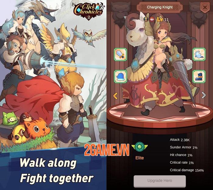 Click Chronicles 2 - Game Idle RPG có đồ họa hoạt hình đậm chất nghệ thuật 0