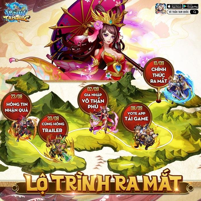 Game đấu tướng xếp lượt tự do Võ Thần Tam Quốc ấn định ra mắt chính thức 1