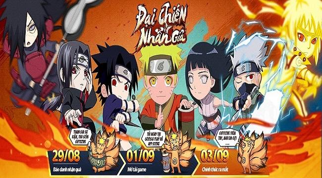 Game mobile Naruto huyền thoại Đại Chiến Nhẫn Giả ấn định ra mắt