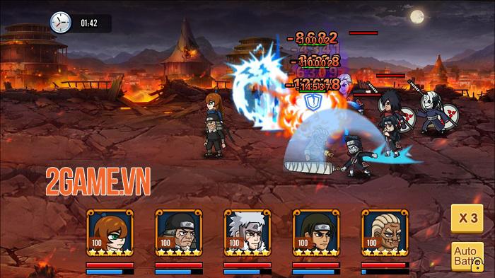 Chỉ là đồ họa 2D thôi nhưng chơi Đại Chiến Nhẫn Giả vẫn chả khác gì đang xem anime 0