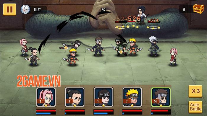 Chỉ là đồ họa 2D thôi nhưng chơi Đại Chiến Nhẫn Giả vẫn chả khác gì đang xem anime 4