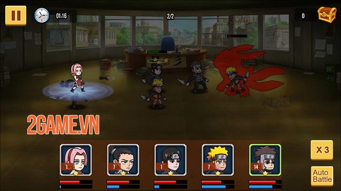 Chỉ là đồ họa 2D thôi nhưng chơi Đại Chiến Nhẫn Giả vẫn chả khác gì đang xem anime 3