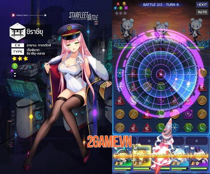 Starfleet Battle - Game puzzle mang phong cách anime siêu cấp đáng yêu 0