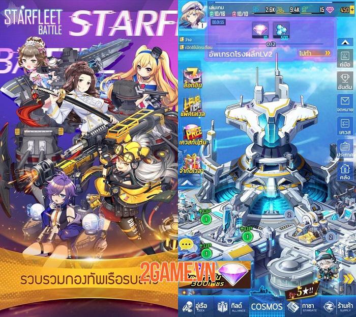 Starfleet Battle - Game puzzle mang phong cách anime siêu cấp đáng yêu 1