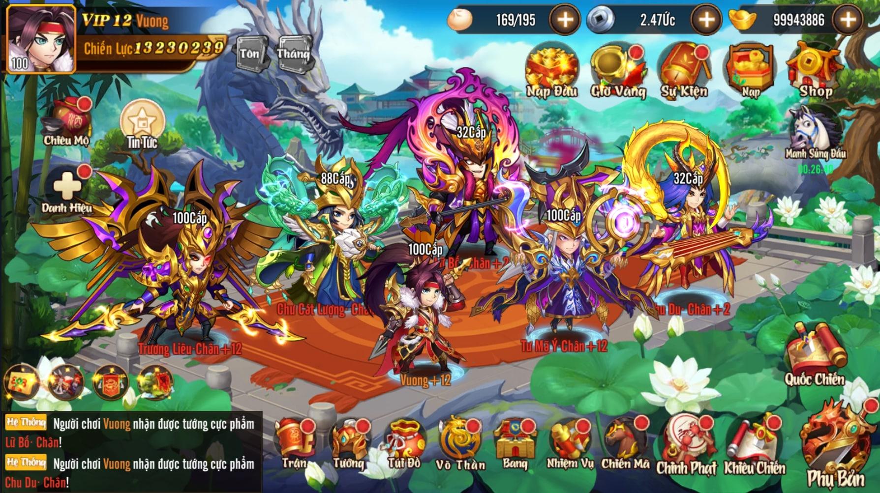 Game mobile Võ Thần Tam Quốc có lối chơi vô cùng