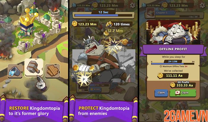 Khám phá vương quốc động vật trong Kingdomtopia: The Idle King 0