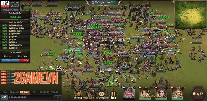 Game thủ được phô diễn khả năng thống lĩnh 3 quân trong Tam Quốc Công Thành H5 0