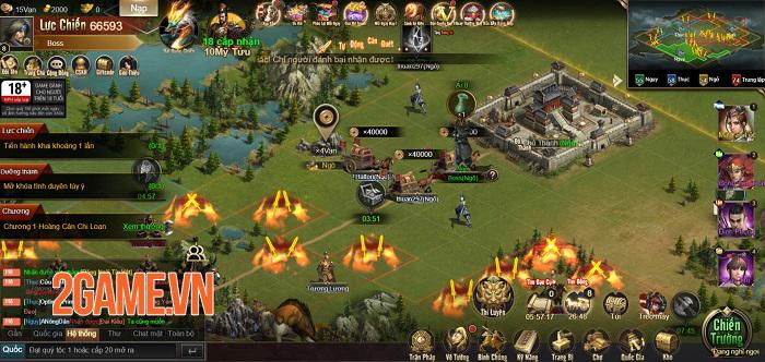 Game thủ được phô diễn khả năng thống lĩnh 3 quân trong Tam Quốc Công Thành H5 1