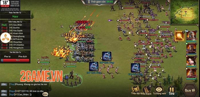 Game thủ được phô diễn khả năng thống lĩnh 3 quân trong Tam Quốc Công Thành H5 4