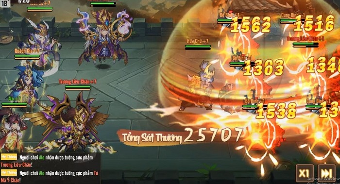 Tặng 500 giftcode game Võ Thần Tam Quốc 1