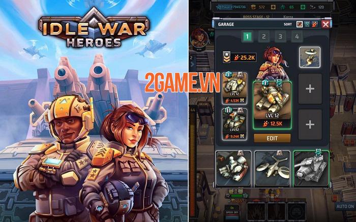 Idle War Heroes – Game giả lập chiến thuật xe tăng quân sự cực chất 0