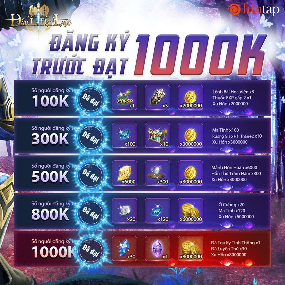 Soul Land: Đấu La Đại Lục - Funtap đã đạt mốc 1 triệu người đăng ký trước 2