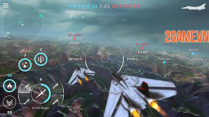 Sky Combat – điều khiển chiến cơ tung hoành trên bầu trời xanh vĩ đại 2