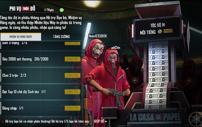 Màn hợp tác hoành tráng từ Free Fire và series Money Heist: Phi Vụ Triệu Đô 1