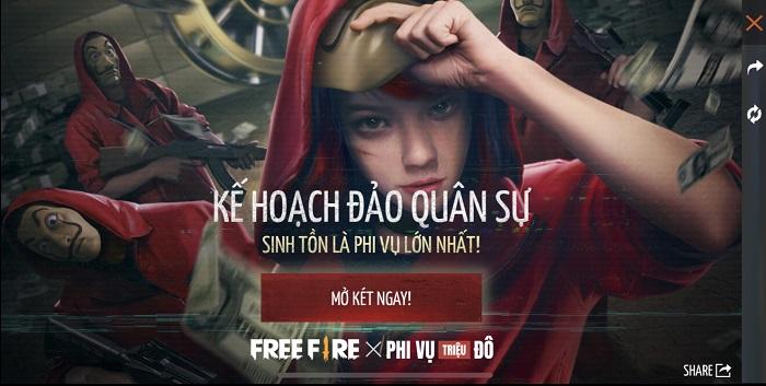 Màn hợp tác hoành tráng từ Free Fire và series Money Heist: Phi Vụ Triệu Đô 6