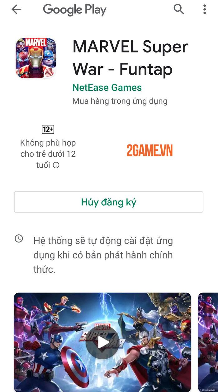 MARVEL Super War VN mở đăng kí trước tại Việt Nam, được phát hành thông qua Funtap 1