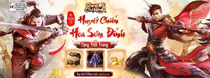 Tặng 500 giftcode nhân Big Update Giang Hồ Chi Mộng 1