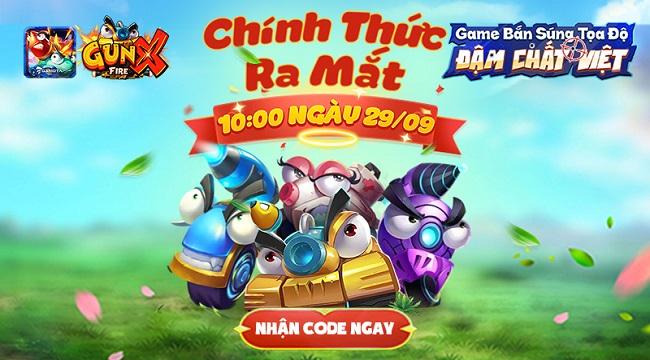 Tặng 500 giftcode game GunX: Fire mừng chính thức ra mắt