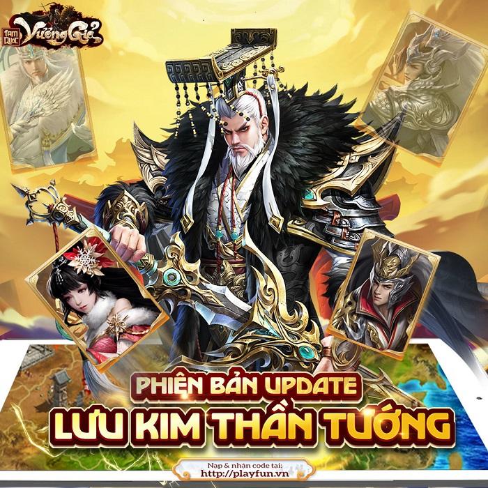 Tam Quốc Vương Giả tặng 200 giftcode mừng cập nhật Lưu Kim Thần Tướng 1