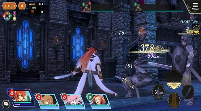 Tales of Crestoria có lối chơi đánh theo lượt quen thuộc với fan game gacha