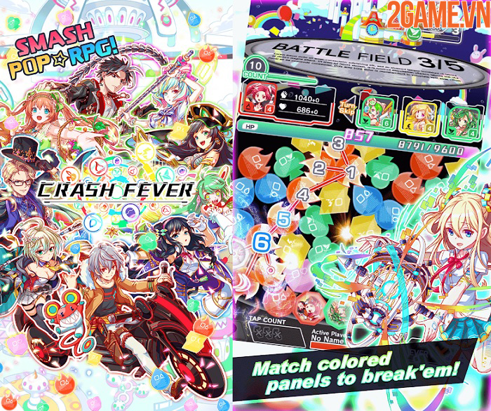 Crash Fever - Game nhập vai kết hợp các khối ma pháp đầy màu sắc 2